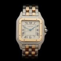Cartier Panthere 2 Row Stainless Steel/18k Yellow Gold Ladies...