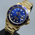 Ρολεξ (Rolex) Submariner Date 18K Gold Blue 16808 2 YEARS...