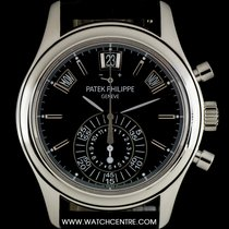 Patek Philippe Platinum Black Dial Annual Calendar Chrono...