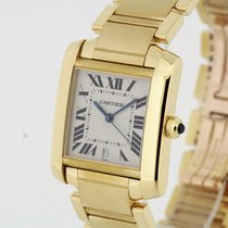 Cartier Tank Francaise Automatic solid 18K Yellow Gold Large...
