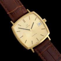 Omega 1974 Geneve Vintage Mens Handwound Watch with Quick-Setting