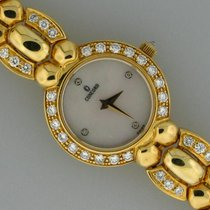 Concord 18k yellow gold diamond bezel & band quartz