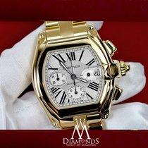 Cartier Roadster Xl W62020x6 White Dial 18k Yellow Gold Watch...