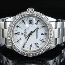 Rolex Original Rolex Date 15210 Oyster 34 MM Unisex White Dial...