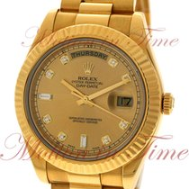 Rolex Day-Date II President 41mm, Champagne Diamond Dial,...