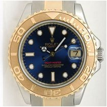 Rolex Yachtmaster 168623 Steel and Gold Mid-Size Blue Face