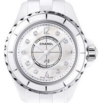 Chanel J12 Mother of Pearl White Ceramic Ladies Watch H2570