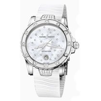 Ulysse Nardin Lady Diver Mother of Pearl Dial White Rubber...