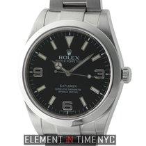 Rolex Explorer I Stainless Steel Black Dial 39mm G Serial 2009