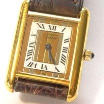 Cartier 18K Vermeil Tri-Color Roman Tank Watch w Cartier Band...