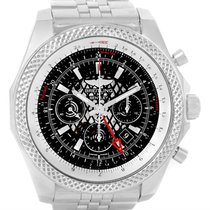Breitling Bentley Gmt Chronograph Black Dial Mens Watch Ab0431
