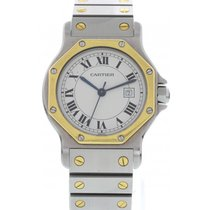 Cartier Santos 18K Yellow Gold & Stainless Steel Automatic