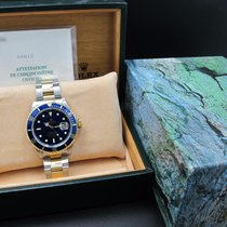 Rolex SUBMARINER 16613 2-Tone Blue Dial with Box and Paper