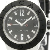 Bulgari Aluminium Diamond Rubber Quartz Ladies Watch Al32ta...