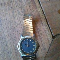 Ebel sport classic mini staal/goud met 12 diamanten in de...