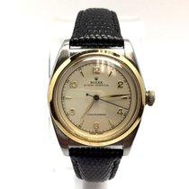 Rolex Bubble Chronometer 18k G-p Steel Unisex Watch W/ Black...
