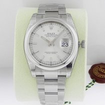 Rolex DATEJUST 36mm Stainless Steel Silver Index 2016