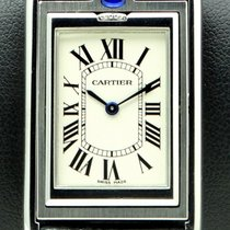 Cartier Tank Basculante Blue Stainless Steel, Mechanical,...