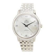 Omega De Ville Stainless Steel With Diamonds White Automatic...