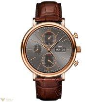 IWC Portofino Chronograph Red Gold Ardoise Dial Men`s Watch