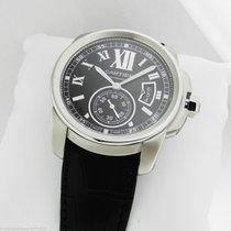 Cartier Calibre de Cartier Automatic SS Leather BLACK DIAL...