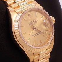 Rolex President 69178 18k Yellow Gold Sticks Dial Ladies Watch...