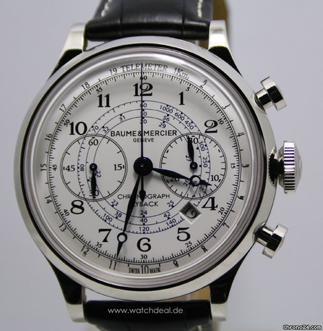 Baume &amp;amp; Mercier Capeland Chrono NEU incl MWST mit Box + Papieren