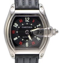 Cartier Roadster Black Dial on Strap with box
