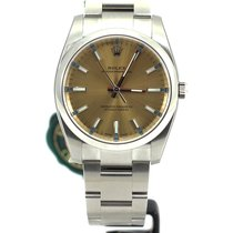 Rolex Oyster Perpetual 34mm champagne white grape dial 114200 NEW
