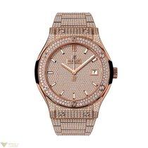 Hublot Classic Fusion Quartz 18K KIng Gold diamonds bracelet...