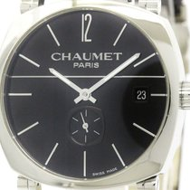 Chaumet Polished Chaumet Dandy Steel Leather Automatic Mens...