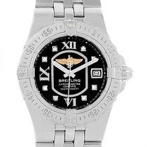 Breitling Starliner Black Diamond Dial Steel Ladies Watch A71340