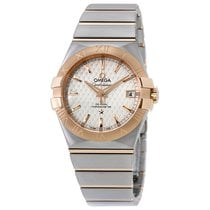 Omega Constellation Automatic Two-tone Stainless Steel Mens...