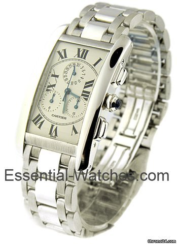 Cartier Tank Americaine / White Gold on Bracelet