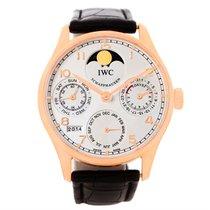 IWC Portuguese Perpetual Calendar Rose Gold Watch Iw502213 Box...