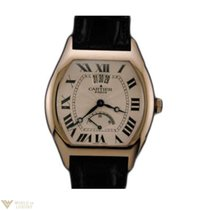 Cartier Tortue Limited Edition 18k White Gold Leather Men`s Watch