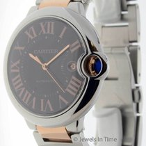 Cartier Ballon Bleu 42mm 18k Rose Gold & Steel Mens...