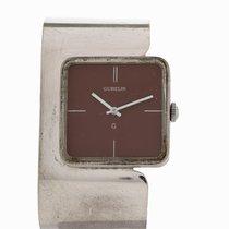 Gübelin Vintage Silver Cuff Wristwatch, Switzerland, c.1970