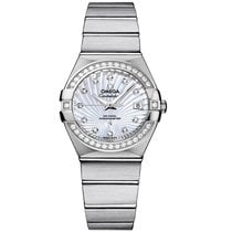 Omega Constellation Steel Mop White 123.15.27.20.55.001 Ladies...