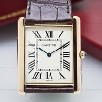 Cartier W1560017 Tank Louis Cartier XL Manual Wind 18K Rose...