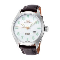 Glycine Incursore III White Dial Automatic Men's Leather...