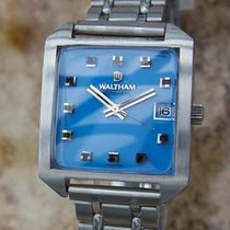 Waltham Men's Swiss Made 1970s Gold Stainless Steel Luxury...
