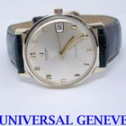 Universal Genève 14k Mens Micro Rotor AUTOMATIC Watch Cal 218-27