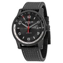Montblanc Timewalker Urban Automatic Black Dial Black Leather...