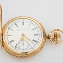 Waltham 1894 14k Yellow GOld Pocket Watch Fancy Engraved...