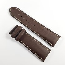 Union Glashütte 25mm leather strap brown white stichting NEW