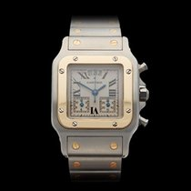Cartier Santos Chronograph Stainless Steel/18k Yellow Gold...