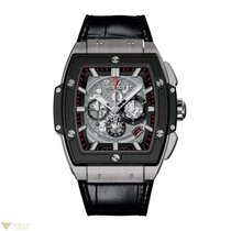 Hublot Spirit of Big Bang Ceramic Titanium Leather Chronograph...