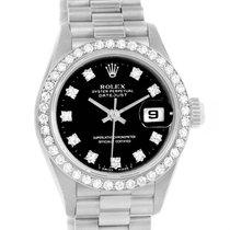Rolex President Datejust 18k White Gold Diamond Ladies Watch...