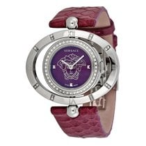 Versace Eon Ellipse Violet Dial Diamond Ladies Watch